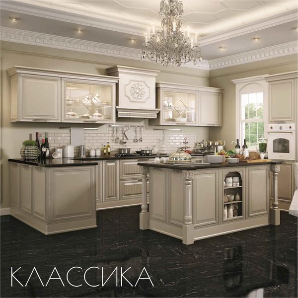 красивые кухни классика фото